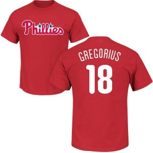 Didi Gregorius Philadelphia Phillies Youth Red Roster Name & Number T-Shirt -