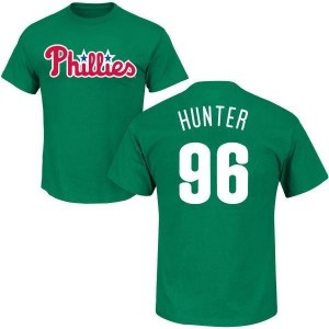 Tommy Hunter Philadelphia Phillies Men's Green St. Patrick's Day Roster Name & Number T-Shirt -