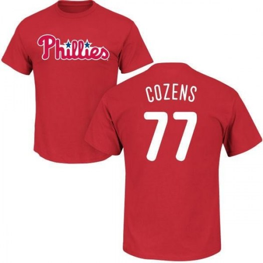 Dylan Cozens Philadelphia Phillies Men's Red Roster Name & Number T-Shirt -