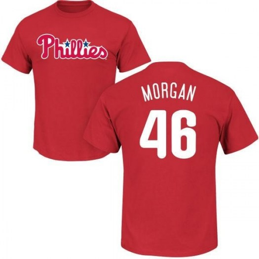 Adam Morgan Philadelphia Phillies Youth Red Roster Name & Number T-Shirt -