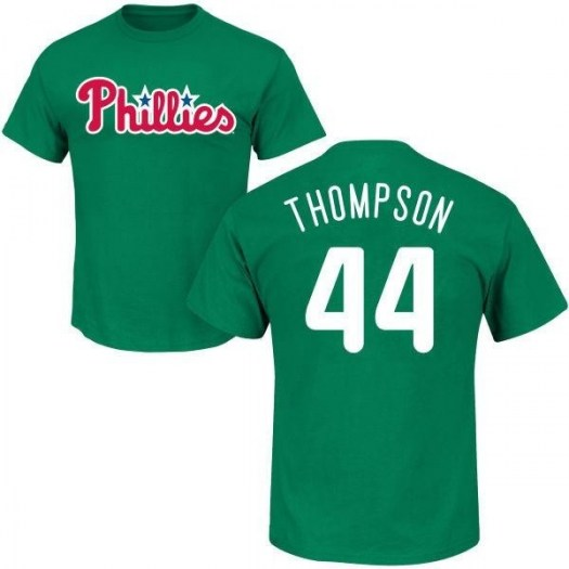 Jake Thompson Philadelphia Phillies Youth Green St. Patrick's Day Roster Name & Number T-Shirt -