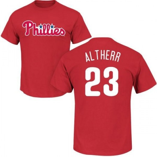 Aaron Altherr Philadelphia Phillies Youth Red Roster Name & Number T-Shirt -